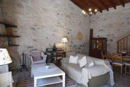 Гостиная. Кипр, Троодос : Каменный дом с приватным двориком с солярием с шезлонгами на крыше, 2 спальни, 2 ванные комнаты, барбекю, парковка, Wi-Fi