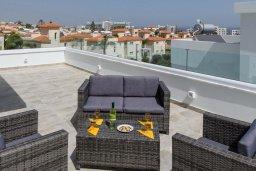 Терраса. Кипр, Каво Марис Протарас : Современная вилла с бассейном и двориком с барбекю, 3 спальни, 4 ванные комнаты, терраса на крыше, парковка, Wi-Fi