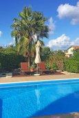Бассейн. Кипр, Лачи : Прекрасная вилла с бассейном и зеленым двориком, 3 спальни, 3 ванные комнаты, парковка, Wi-Fi