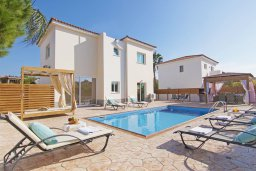 Фасад дома. Кипр, Ионион - Айя Текла : Прекрасная вилла с бассейном и двориком с барбекю, 3 спальни, парковка, Wi-Fi
