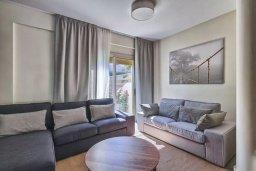 Гостиная. Кипр, Гермасойя Лимассол : Прекрасная вилла с бассейном и зеленым двориком, 3 спальни, парковка, Wi-Fi
