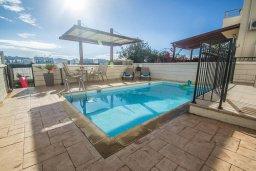 Бассейн. Кипр, Каппарис : Прекрасная вилла с бассейном, детской площадкой и патио, 2 спальни, парковка, Wi-Fi