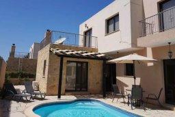 Фасад дома. Кипр, Месоги : Роскошная вилла с бассейном и двориком с барбекю, 4 спальни, 3 ванные комнаты, парковка, Wi-Fi