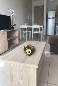 Гостиная. Кипр, Декелия - Пила : Апартамент в комплексе с бассейном, с гостиной, двумя спальнями и большим балконом