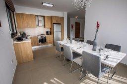 Кухня. Кипр, Хлорака : Прекрасная вилла с бассейном и двориком с барбекю, терраса на крыше с видом на море, 3 спальни, ванные комнаты, парковка, Wi-Fi