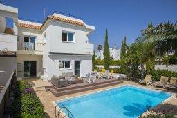 Фасад дома. Кипр, Коннос Бэй : Прекрасная вилла с бассейном и зеленым двориком с барбекю, 3 спальни, парковка, Wi-Fi