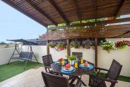 Терраса. Кипр, Пернера : Уютная вилла с приватным двориком в комплексе с бассейном, 2 спальни, барбекю, парковка, Wi-Fi