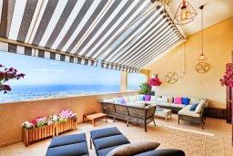 Патио. Кипр, Пейя : Роскошная вилла с бассейном, зеленым двориком с джакузи, бильярдом, барбекю, 4 спальни, 2 ванные комнаты, парковка, Wi-Fi