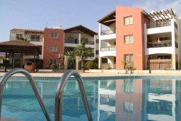 Фасад дома. Кипр, Пафос город : Уютная студия в комплексе с бассейном