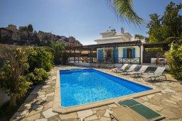 Фасад дома. Кипр, Санрайз Протарас : Уютная вилла с бассейном и двориком с барбекю, 3 спальни, 3 ванные комнаты, парковка, Wi-Fi