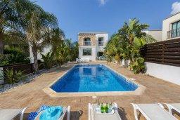 Фасад дома. Кипр, Санрайз Протарас : Уютная вилла с бассейном и приватным двориком, 3 спальни, 2 ванные комнаты, барбекю, парковка, Wi-Fi
