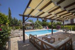 Патио. Кипр, Ионион - Айя Текла : Прекрасная вилла в 100 метрах от пляжа, с бассейном и зеленым двориком с барбекю, 3 спальни, 2 ванные комнаты, патио, парковка, Wi-Fi
