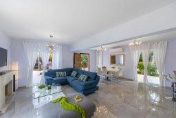 Гостиная. Кипр, Каво Марис Протарас : Уютная вилла с бассейном и приватным двориком с барбекю, 3 спальни, 2 ванные комнаты, сауна, парковка, Wi-Fi