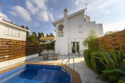 Фасад дома. Кипр, Каво Марис Протарас : Уютная вилла с бассейном и приватным двориком с барбекю, 3 спальни, 2 ванные комнаты, сауна, парковка, Wi-Fi