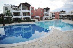 Бассейн. Кипр, Пафос город : Апартамент в комплексе с бассейном, с гостиной, отдельной спальни и балконом