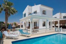 Фасад дома. Кипр, Ионион - Айя Текла : Прекрасная вилла с бассейном и двориком с барбекю, 2 спальни, 2 ванные комнаты, парковка, Wi-Fi