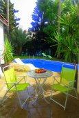 Бассейн. Кипр, Гермасойя Лимассол : Уютная вилла с бассейном и зеленым двориком, 3 спальни, парковка, Wi-Fi