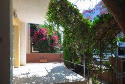 Терраса. Кипр, Гермасойя Лимассол : Двухэтажный дом с бассейном и зеленым двориком, 3 спальни, 2 ванные комнаты, Wi-Fi