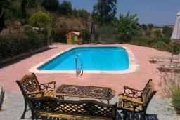 Бассейн. Кипр, Скулли : Уютная вилла с бассейном и зеленым двориком, 3 спальни, 3 ванные комнаты, парковка, Wi-Fi