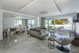 Гостиная. Кипр, Фиг Три Бэй Протарас : Современная вилла с бассейном и патио на крыше, 5 спален, 4 ванные комнаты, парковка, Wi-Fi