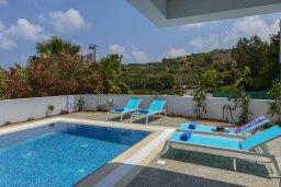 Бассейн. Кипр, Фиг Три Бэй Протарас : Современная вилла с бассейном и патио на крыше, 5 спален, 4 ванные комнаты, парковка, Wi-Fi